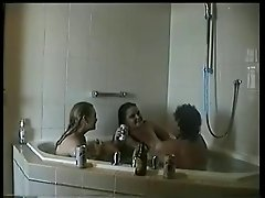 threesome in jacuzzi