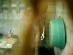 Hidecam Cambodia guy shower