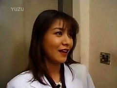 Japanese slut giving blowjob in public