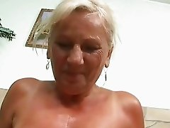 Naughty busty granny in hard POV action