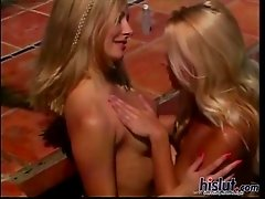 Luscious Czech blonde beauty Jana Cova got to work on her tan while Anastasia Blue ate her out