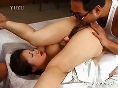 Japanese beauty gets cunt licked