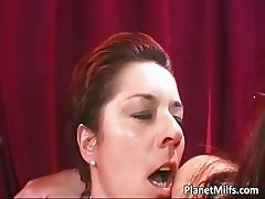 Fantastic lesbian sex with three part4
