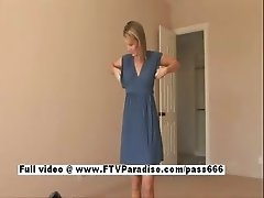 Desiree cute blonde babe trying clothes