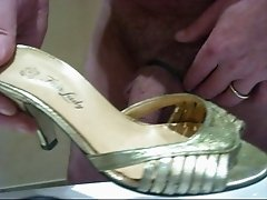 Cummed shoes mules