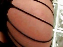 Long Black Hair Tranny in Hot Threeway Fuck