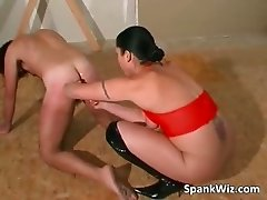 Brunette bitch spank dudes butt and fuck part6
