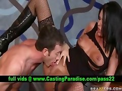 Brunette blowjobs and fucking hard