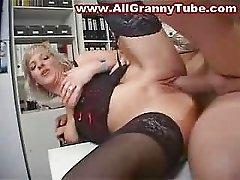 Blonde MILF Secretary