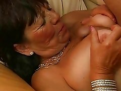 Lusty fat grandma enjoys good fucking
