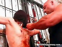 Extreme hardcore fucking with brunette