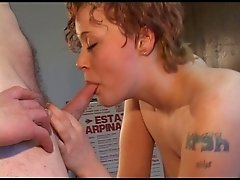 Amateur ish Threesome tattoed girl