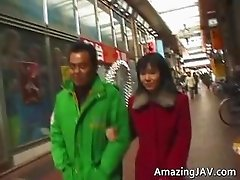 Asian slut gets fingered in public place part2
