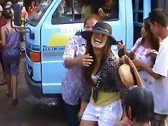 Thailand village girls sizzling dance in public- Part-2