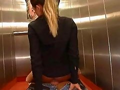 blonde elevator fuck by jackass