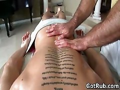 Dude with perfect body gets gay rubbing part2