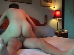 Riding Daddy's cock!