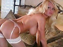 Sweet and sexy Hannah Hilton spreads moist lips rubbing swollen clit