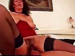 Haired pussy mature all holes fucked