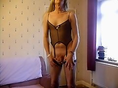 michaela's crossdress  cumshot