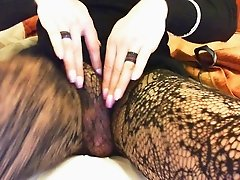 My totaly passive pussy in pantyhose attend anal orgasm