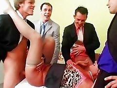 Wild Slut Gangbanged
