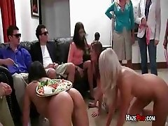 Humiliated Sluts Chasing Dildos Around