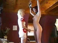 Nurse uses a pussy spreader
