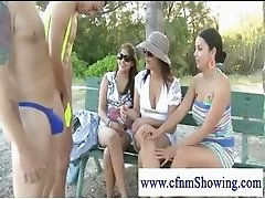 Cfnm ladies asking for personal show