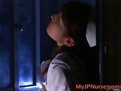Ann Nanba Asian nurse gets a hot facial part1