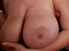 Busty Terry Nova gets double penetrated by two massive throbbing fuck sticks