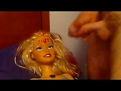 Barbie the slut gets a facial.