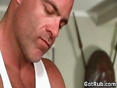 Amazing hunk with tattoos gets part2