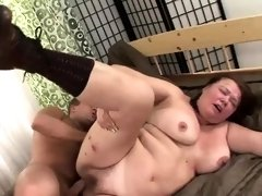 Hardcore banging session with a mature fatty