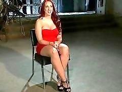 PAWG slave Kelly Divine toyed by lezdom mistress BDSM porn
