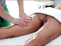 Skinny Asian on the table for sexy massage
