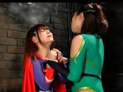 Pretty Asian girls in costume fulfill their lesbian fantasy