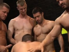 Gaysex hunk blowbang and rimming fun