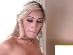 Busty latina shemale Polly A anal rides