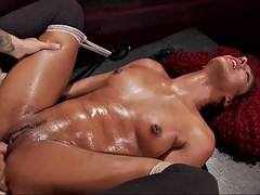 enslaved daisy ducati gets her squirting ebony cunt fisted and fucked