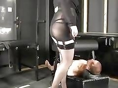 Slave face pressed to death under goddess ass BDSM facesitting