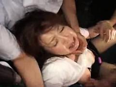 Slutty Asian girl deepthroats a hard cock and enjoys a roug