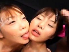 Hot Asian girls share their lust for cum and engage in lesb