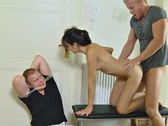 euro gf fucked in front of cuckold boyfriend