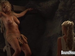 Boobs Whipping For Young Enslaved Lesbian Girls