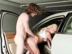 Super hot blonde Kenzie rides a stranger