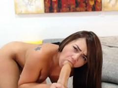 Sweet Brunette Whore Show In Masturbation Treasury