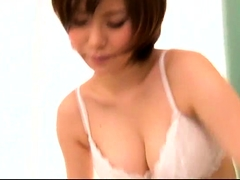 Naughty Asian wife with big boobs is addicted to hard meat