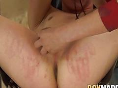 BDSM twink dominated over by his horny maledom