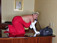 busty mature woman plays with sex toys solo